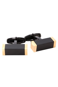 Gold Black Steel Cufflinks BLK 1