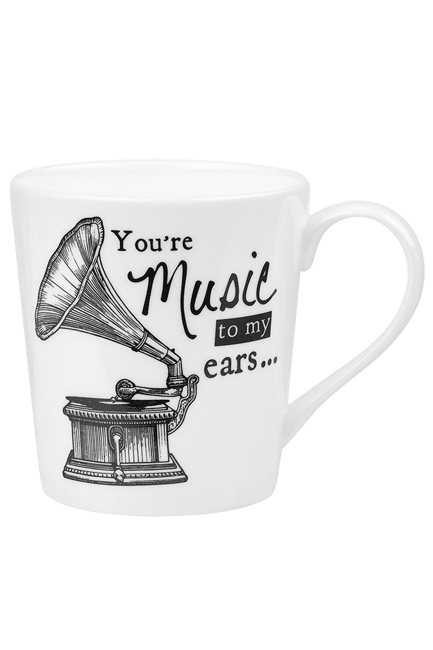 Queens About Time Gramophone Mug 300ml