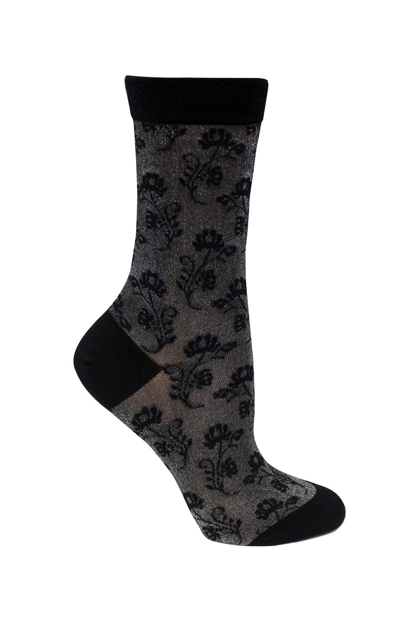 Merino  Lurex Flower 1 Pair  Sock Pack