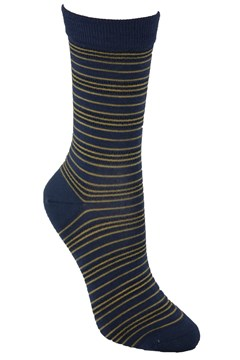 Fine Stripe Merino Sock HONEY GOLD 1