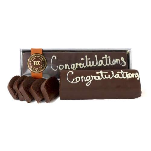 Chocolate Congratulations Truffle Slice