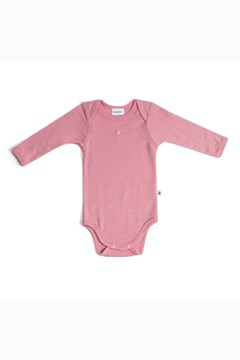 Autumn Leaves Merino Bodysuit PINK ROSE 1