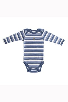 Teddy Bear Picnic Merino Bodysuit DENIM BEE 1