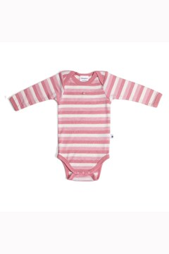 Teddy Bear Picnic Merino Bodysuit PINK ROSE 1