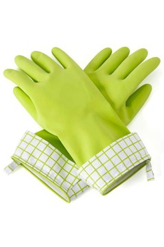 Natural Latex Cleaning Gloves GREEN 1
