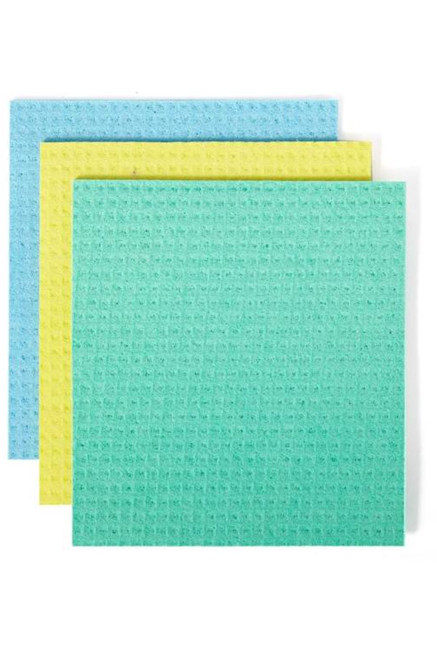 Squeeze Cellulose Sponge Cloth - Set of 3