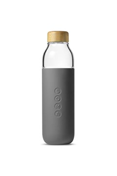 Glass Water Bottle - grey