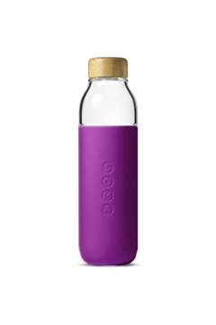 Glass Water Bottle EGGPLANT 1