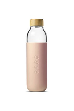 Glass Water Bottle BLUSH 1