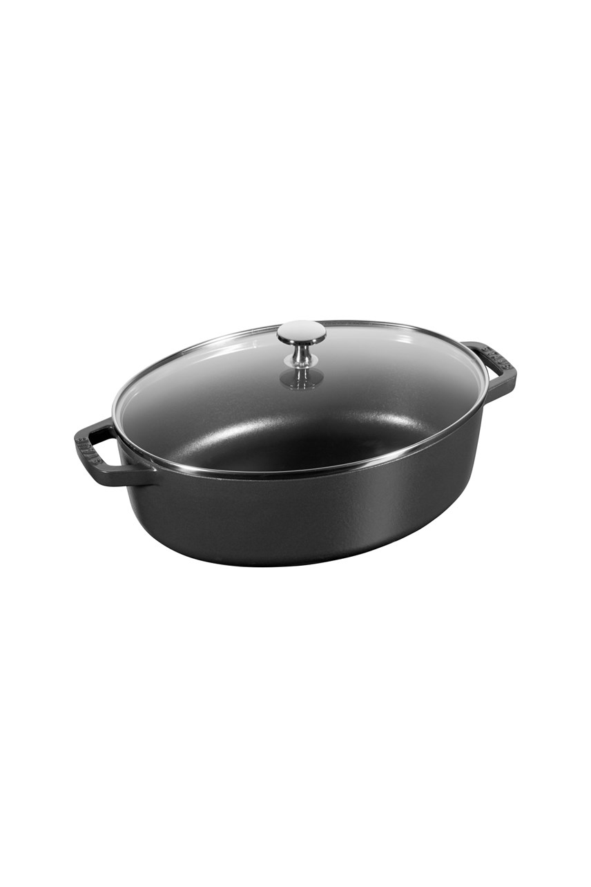 Shallow Cocotte with Glass Lid 29cm