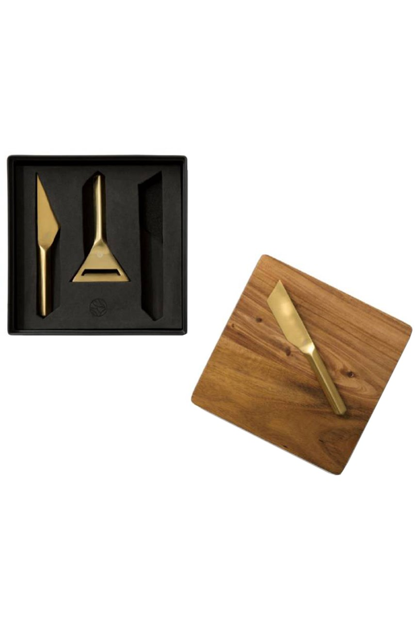 Wooden Board & Cheese Knives