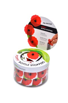 Poppy Bottle Stopper RED 1