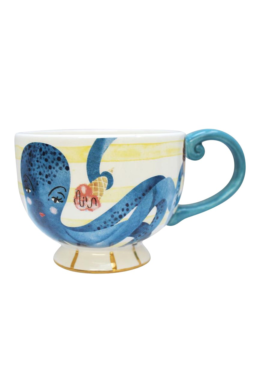 By The Sea Octopus Tea Cup