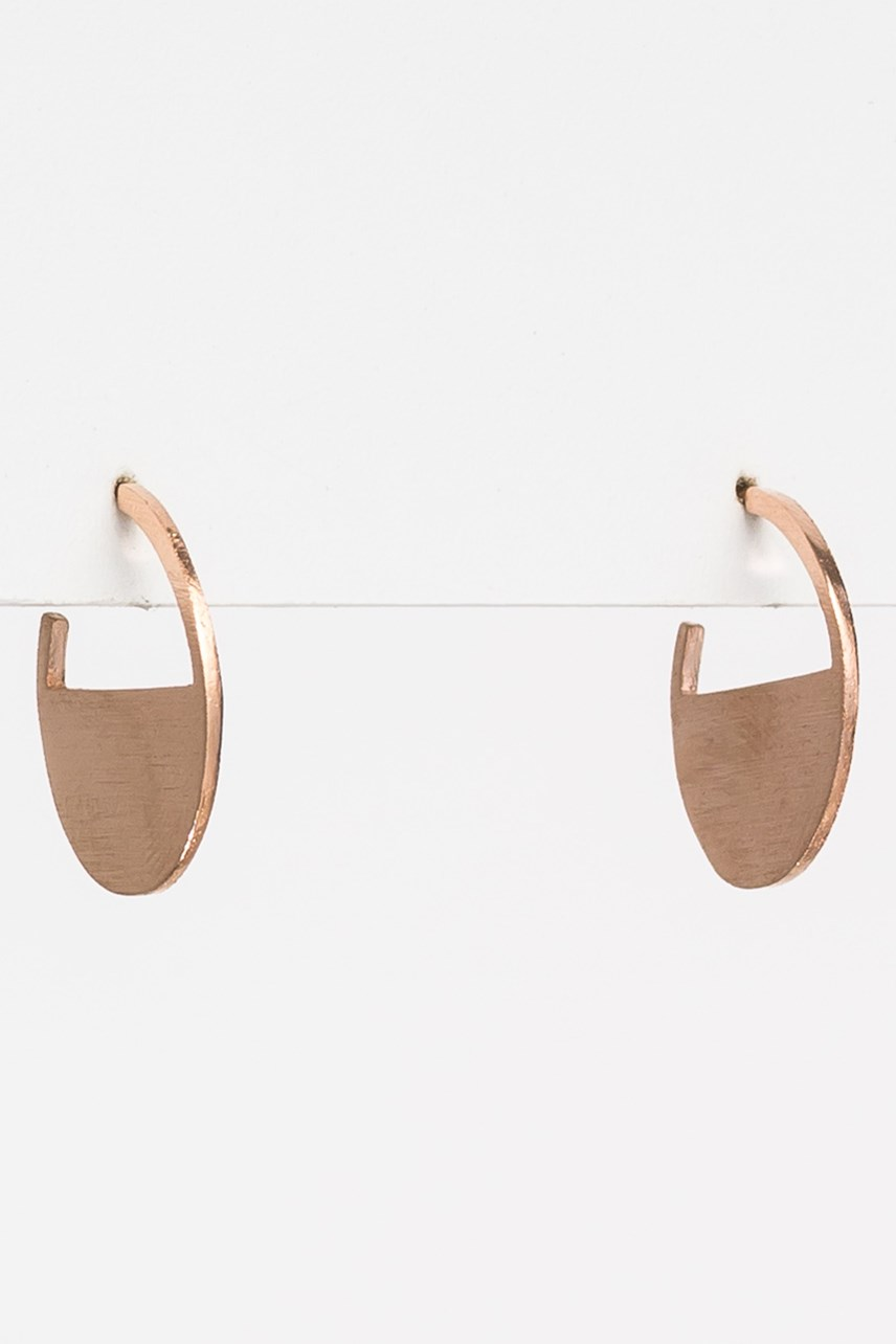Solid Half Circle Earrings