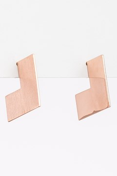 Flat Square Earrings 1