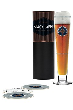 Black Label Beer Glass by Iris Interthal 1