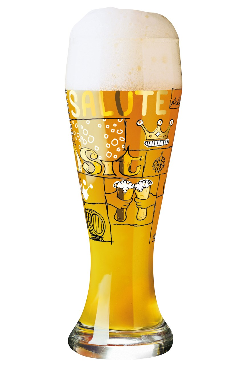 Wheat Beer Glass by Potts