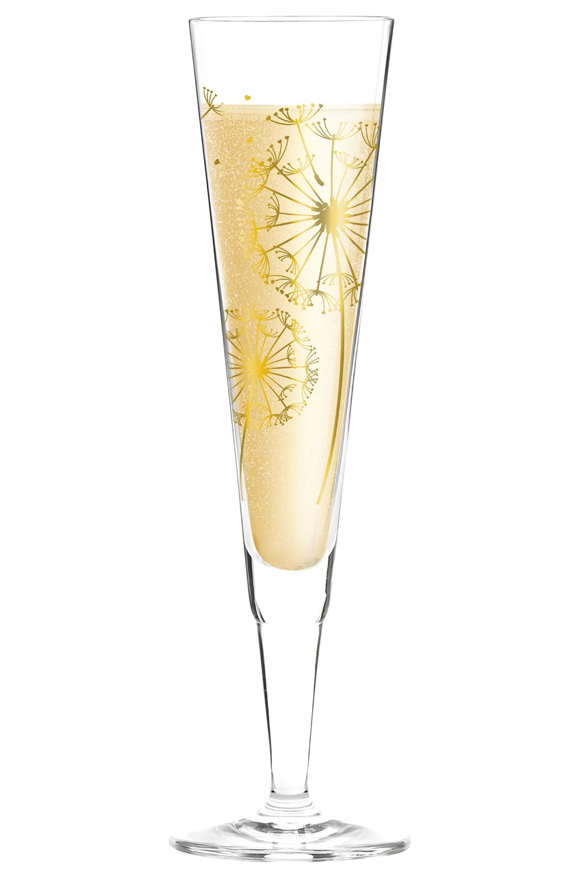 Champus Champagne Flute by Andrea Hilles