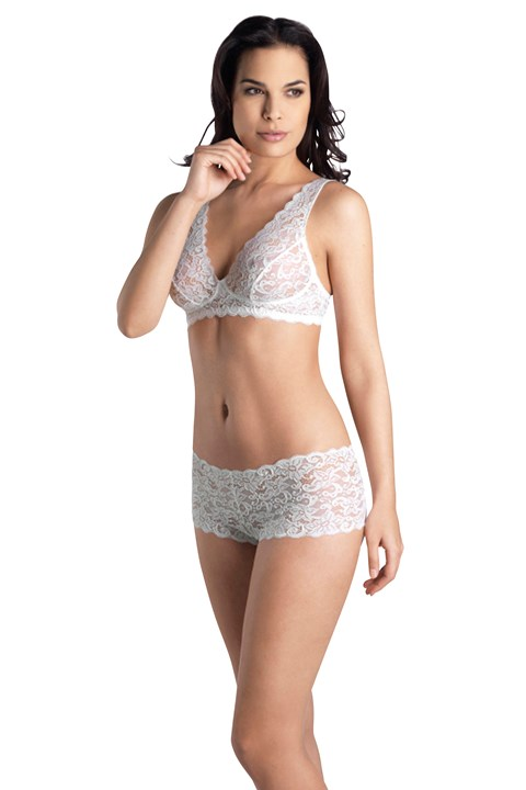 Luxury Moments Lace Soft Cup Bra - white