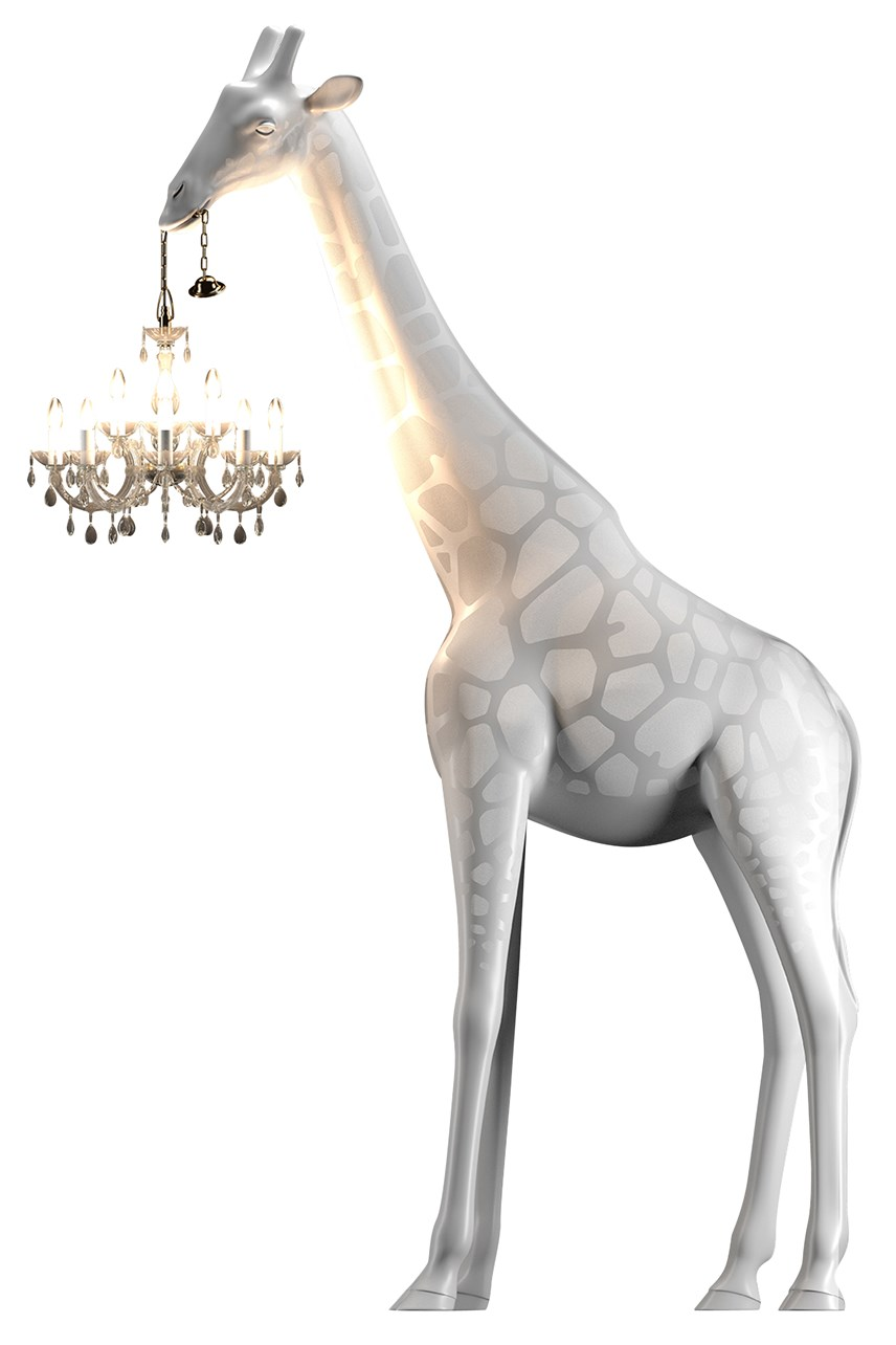 Giraffe In Love Medium Lamp - White