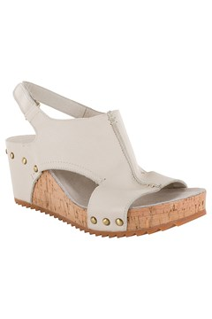 Scotch Leather Wedge Sandal STONE MILLED 1