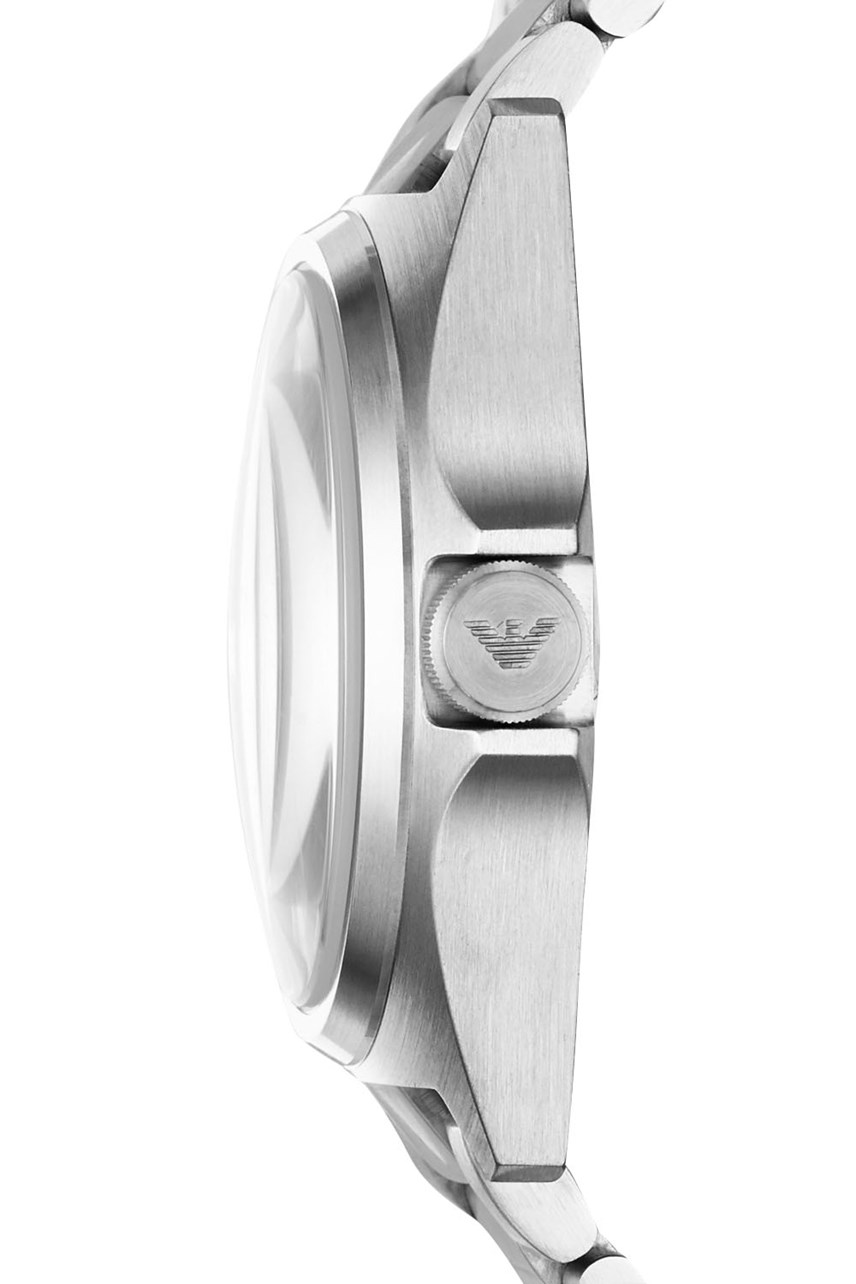 Men's Silver-Tone Analogue Watch