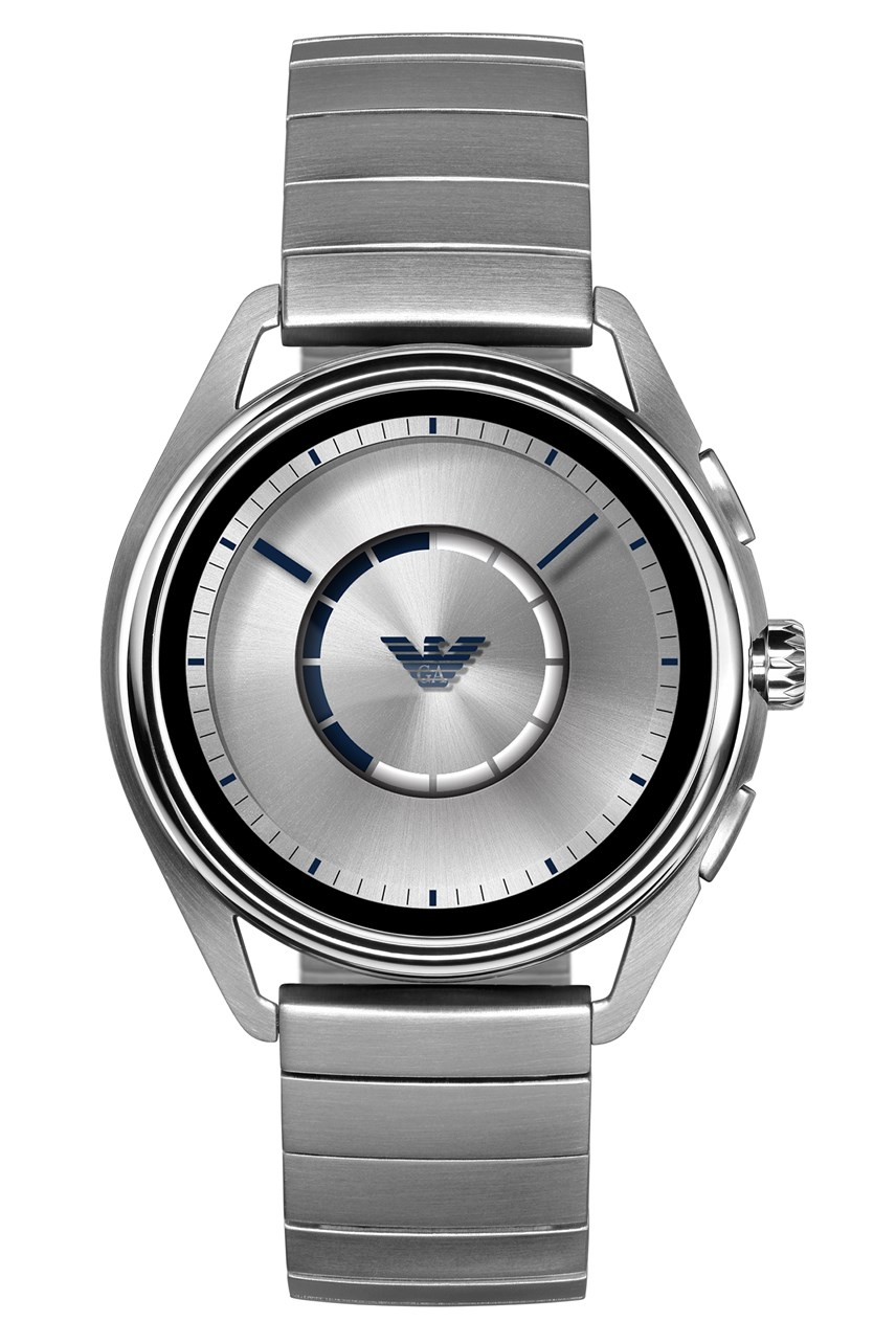 Men's Silver-Tone Smartwatch