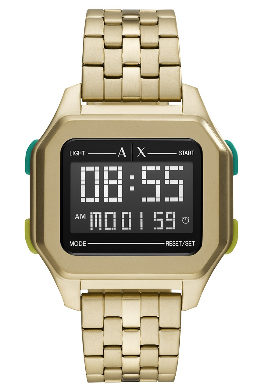 Men's Gold Tone Digital Watch