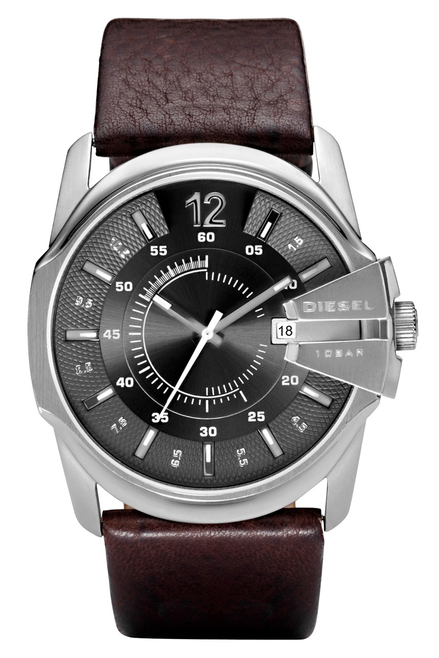 'Chief' Series Dark Brown Leather Watch