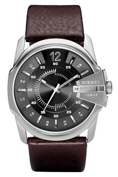 'Chief' Series Dark Brown Leather Watch DARK BROWN 1