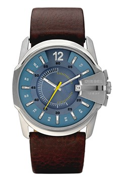 Chief Series Dark Brown Leather Men's Date Watch BROWN 1