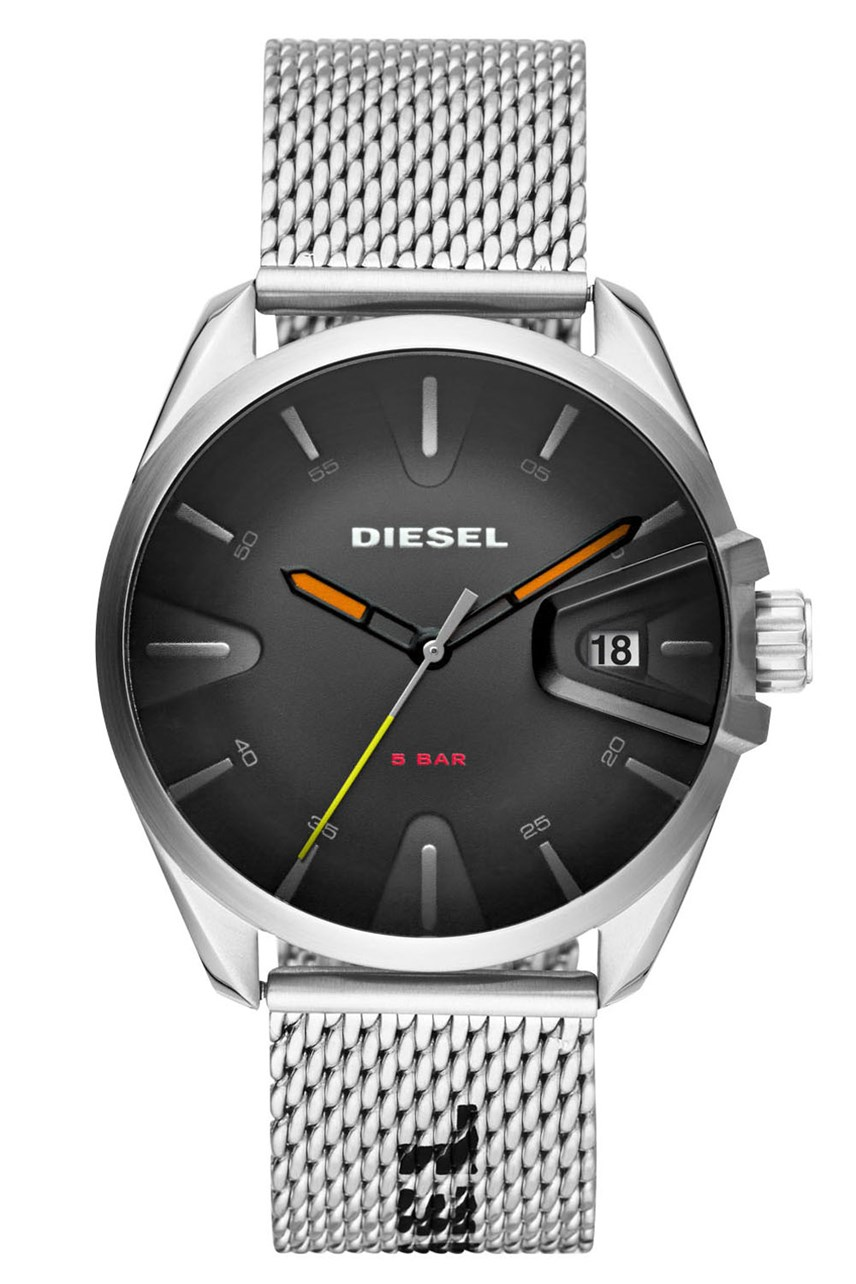 Ms9 Silver-Tone Analogue Watch