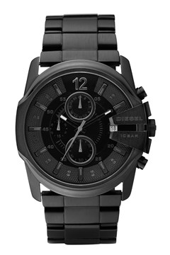 'Chief Series' Black Stainless Steel Chronograph Watch BLACK 1