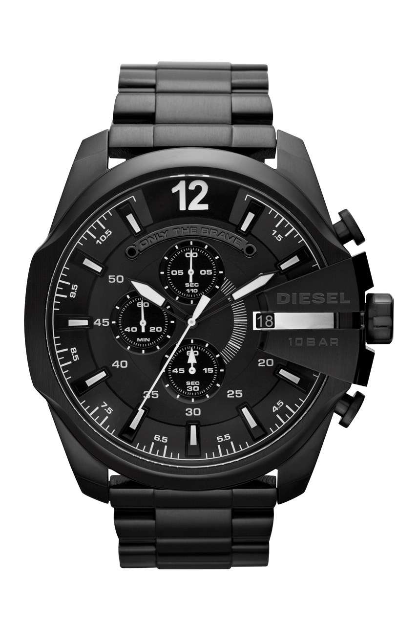 'Chief Series' Black Stainless Steel men's Chronograph Watch
