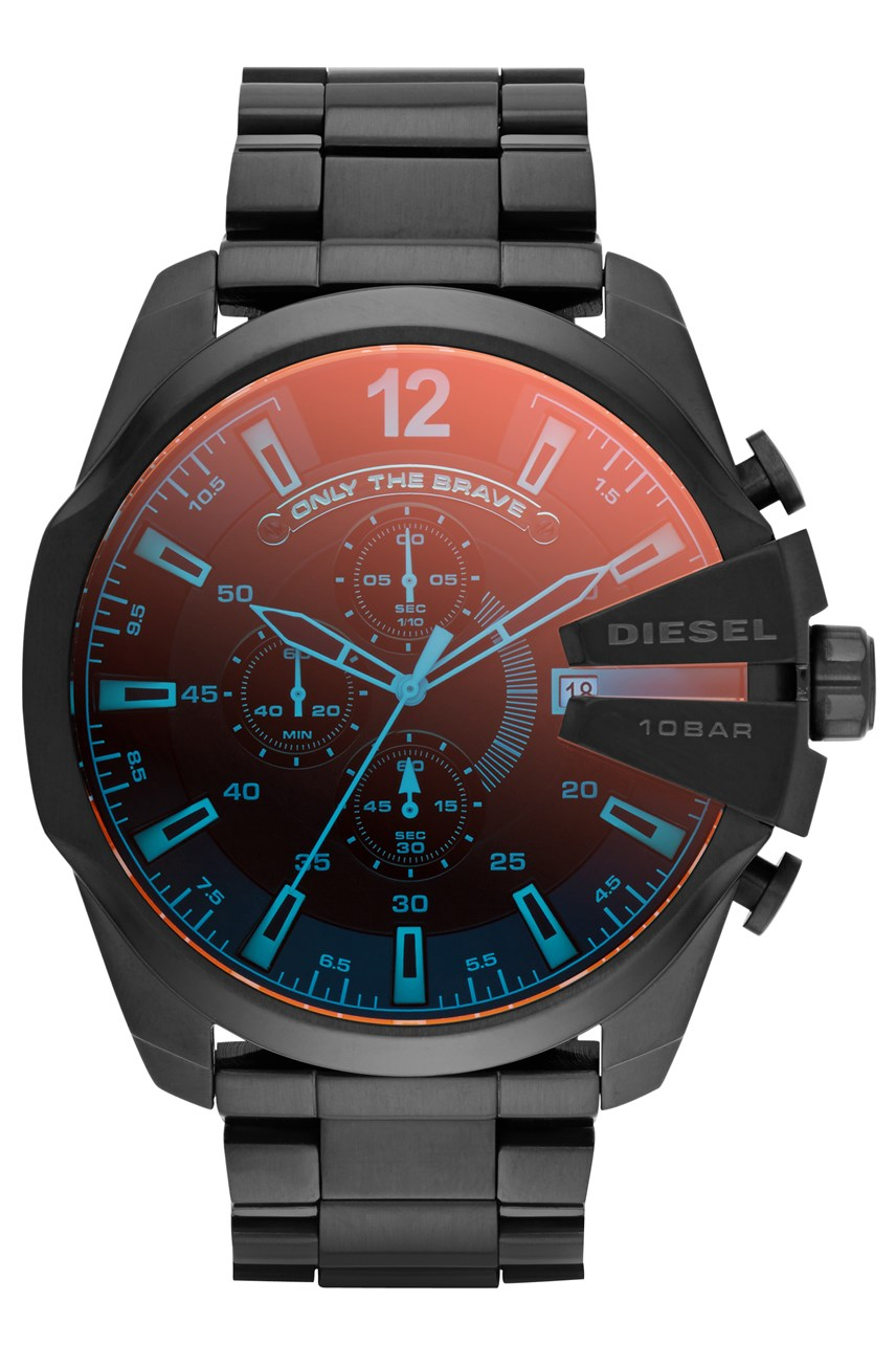 Men's Mega Chief Black Chronograph Watch