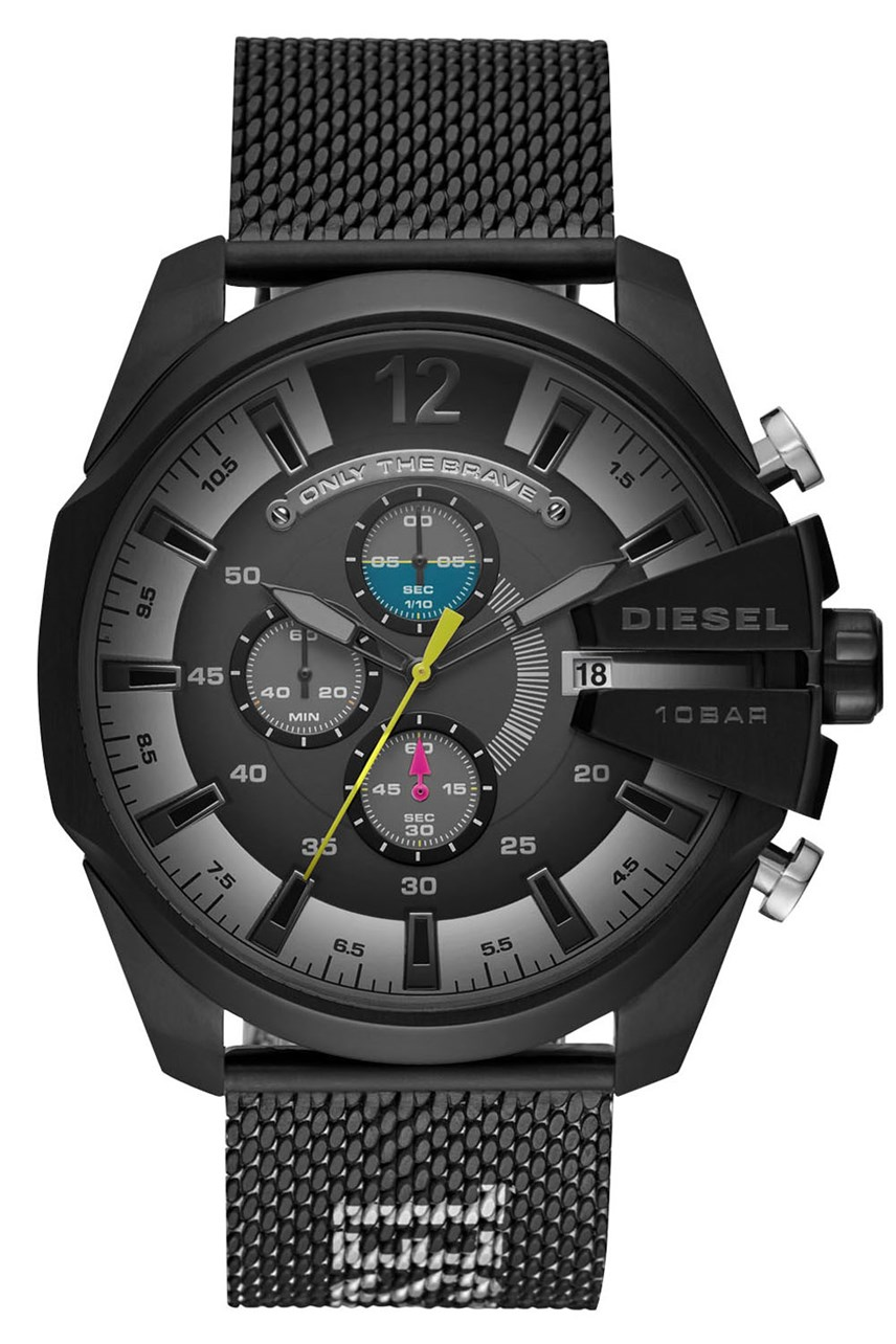 Mega Chief Black Chronograph Watch