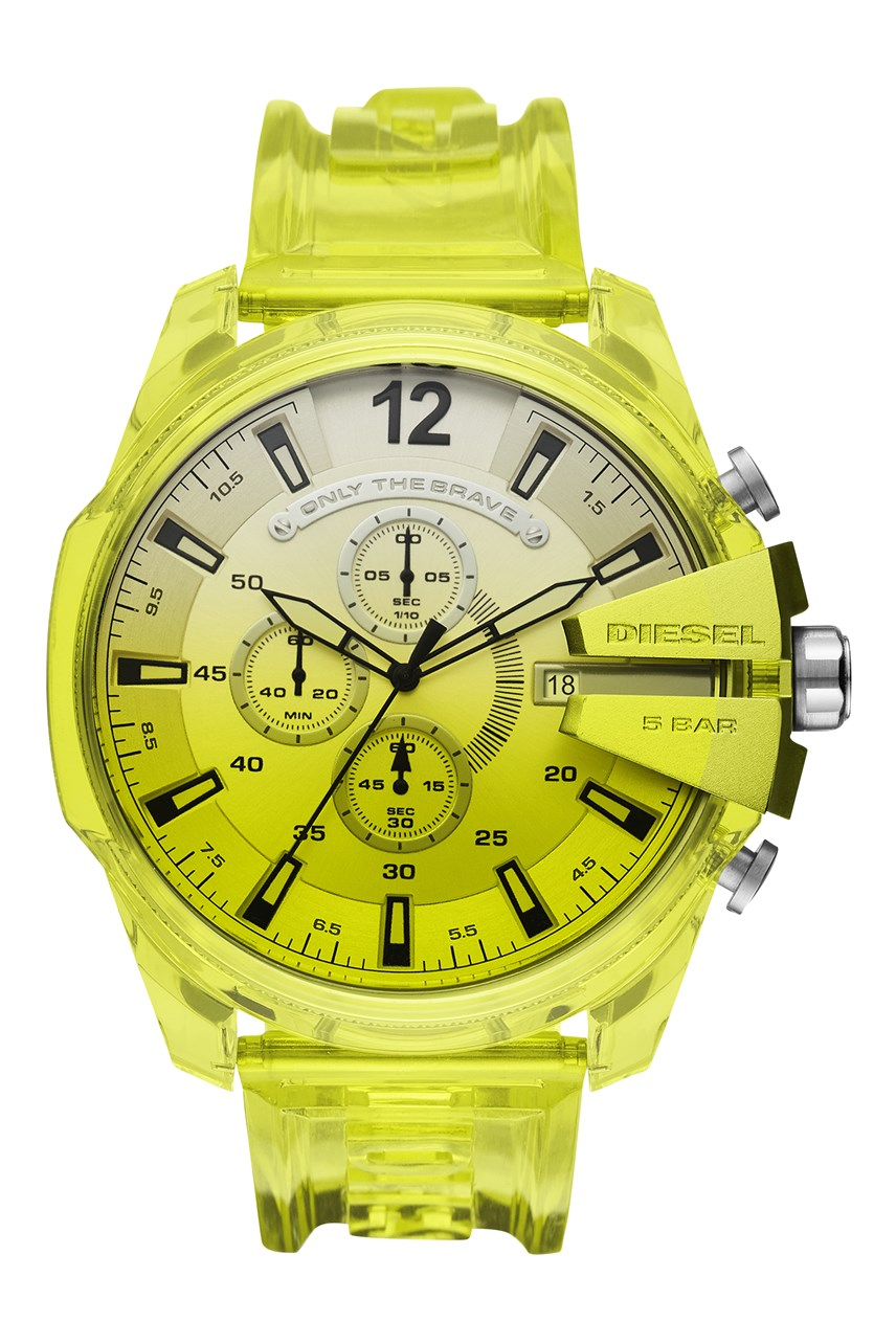 Mega Chief Yellow Chronograph Watch
