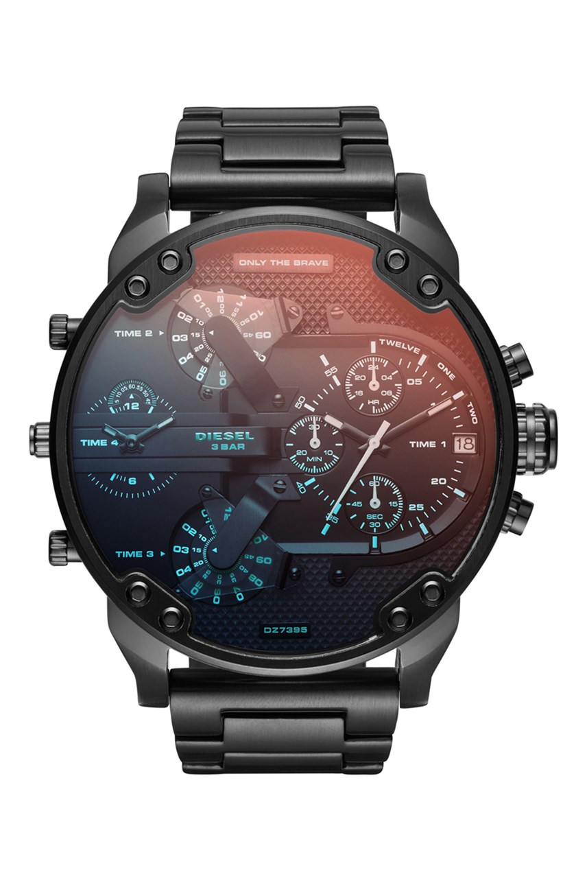 The Daddies Series Black Analogue Watch