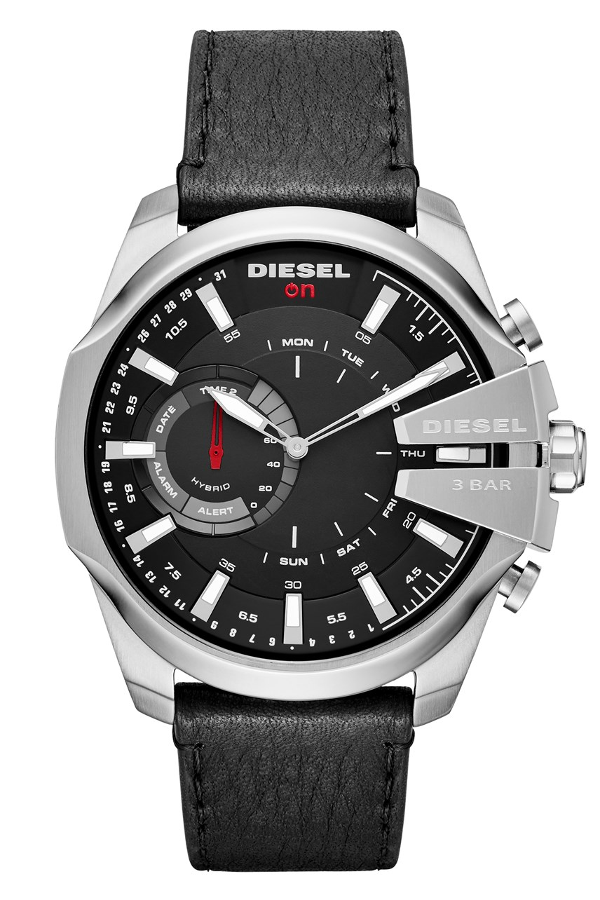 Men's Mega Chief Hybrid Black Hybrid Smartwatch