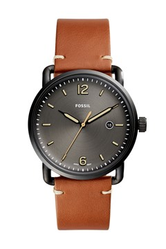 The Commuter Three-Hand Date Luggage Leather Watch TAN 1