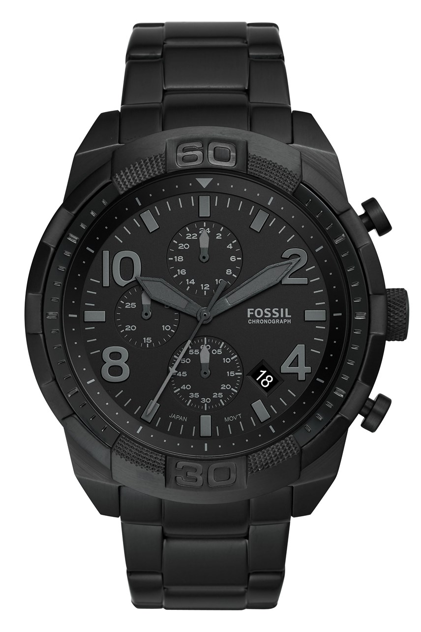 Bronson Black Chronograph Watch