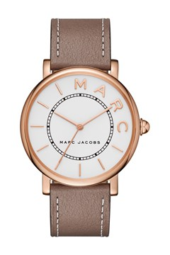 Roxy Cement Leather Strap Watch  CEMENT/ROSE GOLD 1