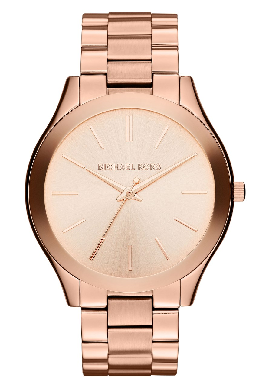 Slim Runway Rose Gold-Tone Analogue Watch