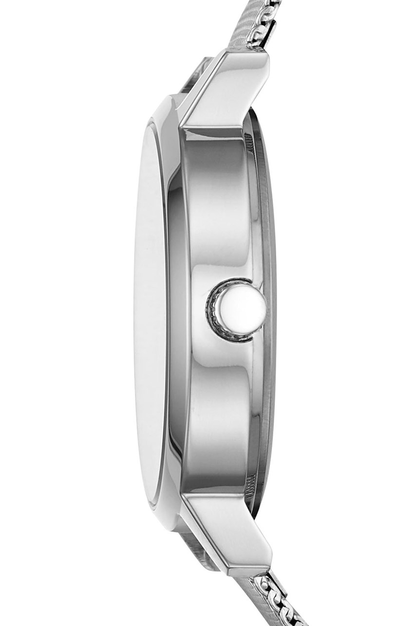 The Modernist Silver-Tone Analogue Watch