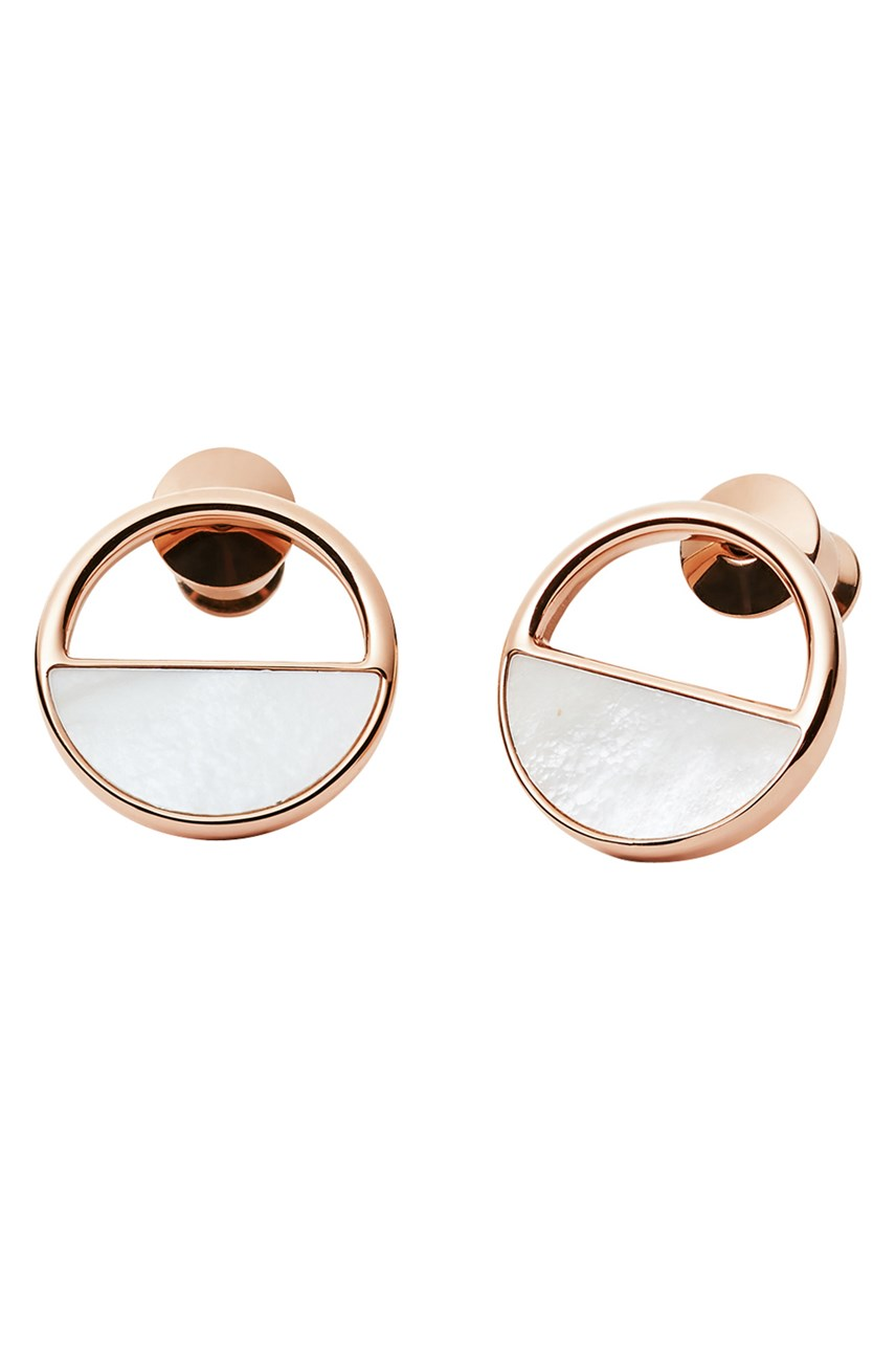 Agnethe Rose Gold-Tone Stud Earrings