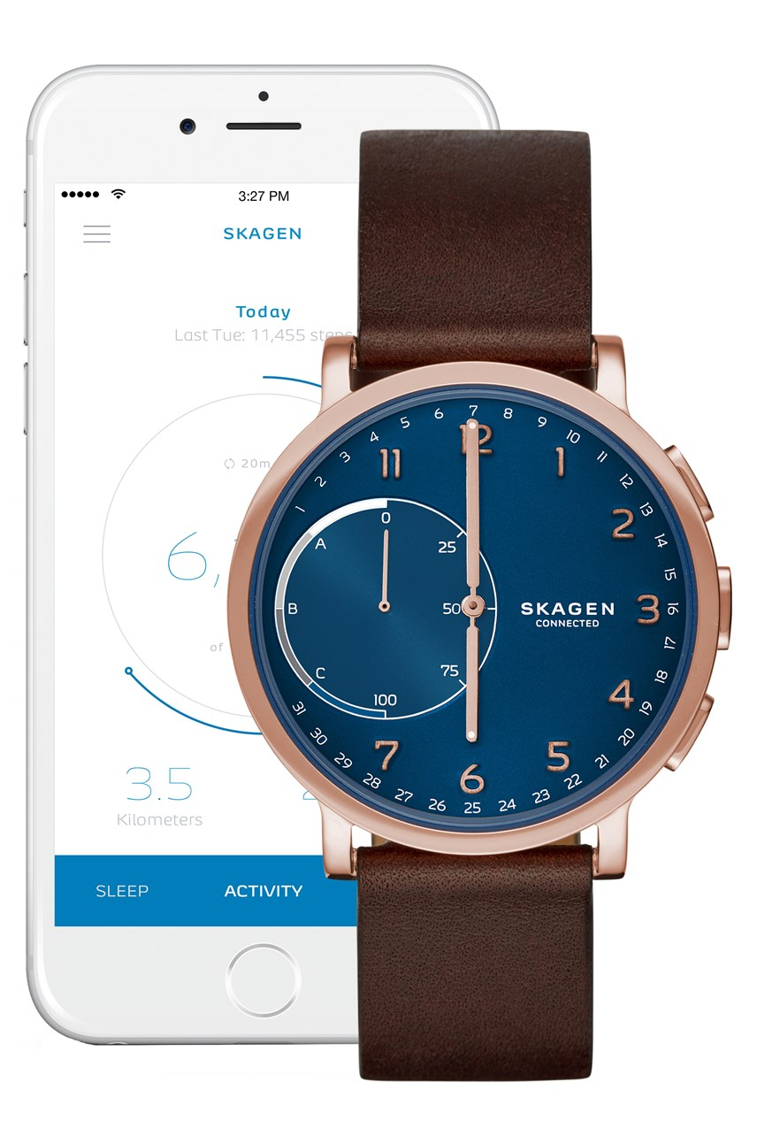 Men's Hybrid Smartwatch Hagen Connected Brown And Blue