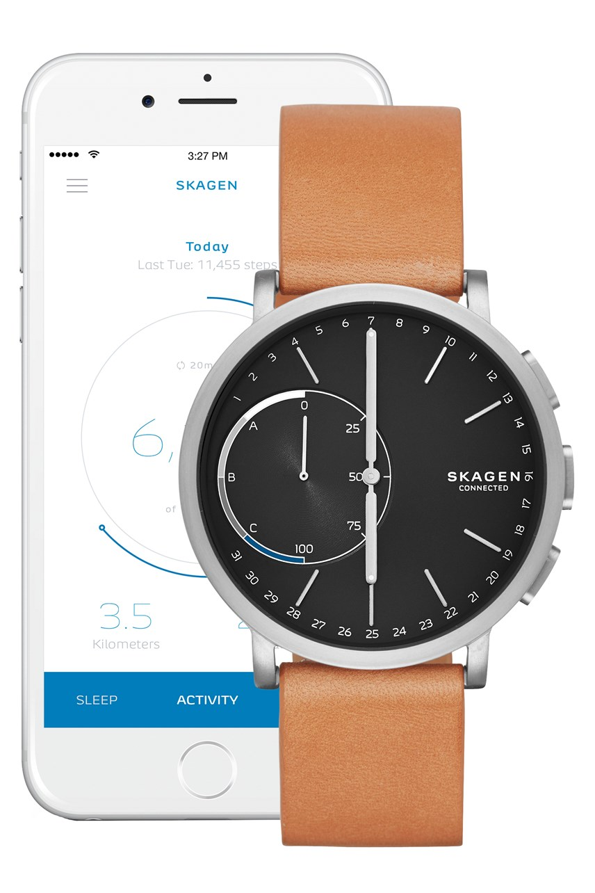 Men's Hybrid Smartwatch Hagen Connected Brown