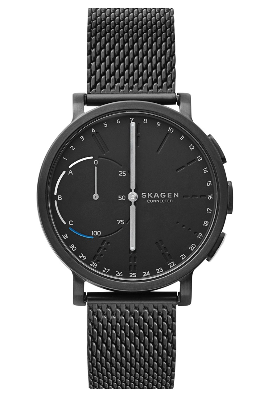 Men's Hagen Black Hyrbid Smart Watch