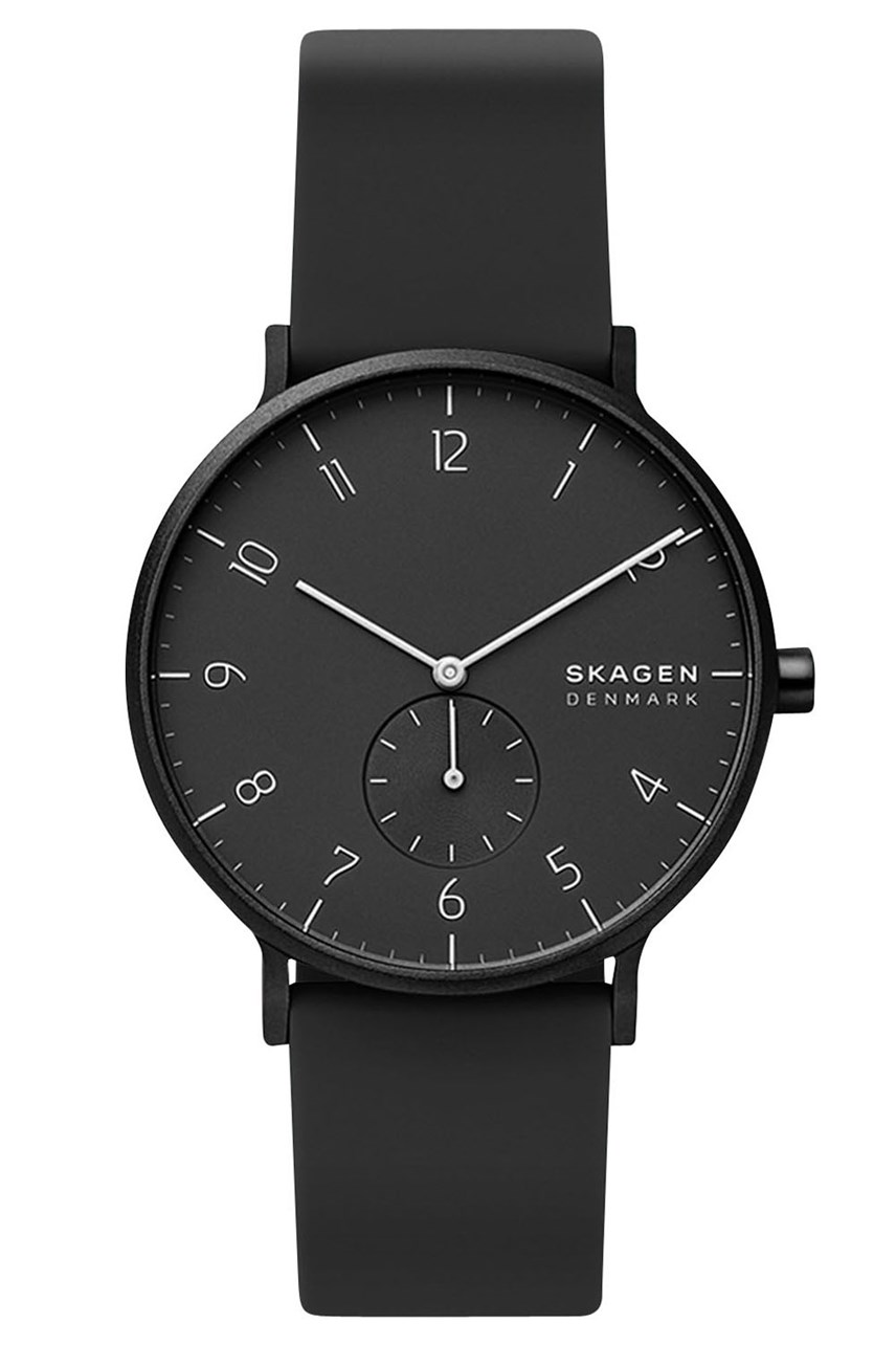 Aaren Black Analogue Watch
