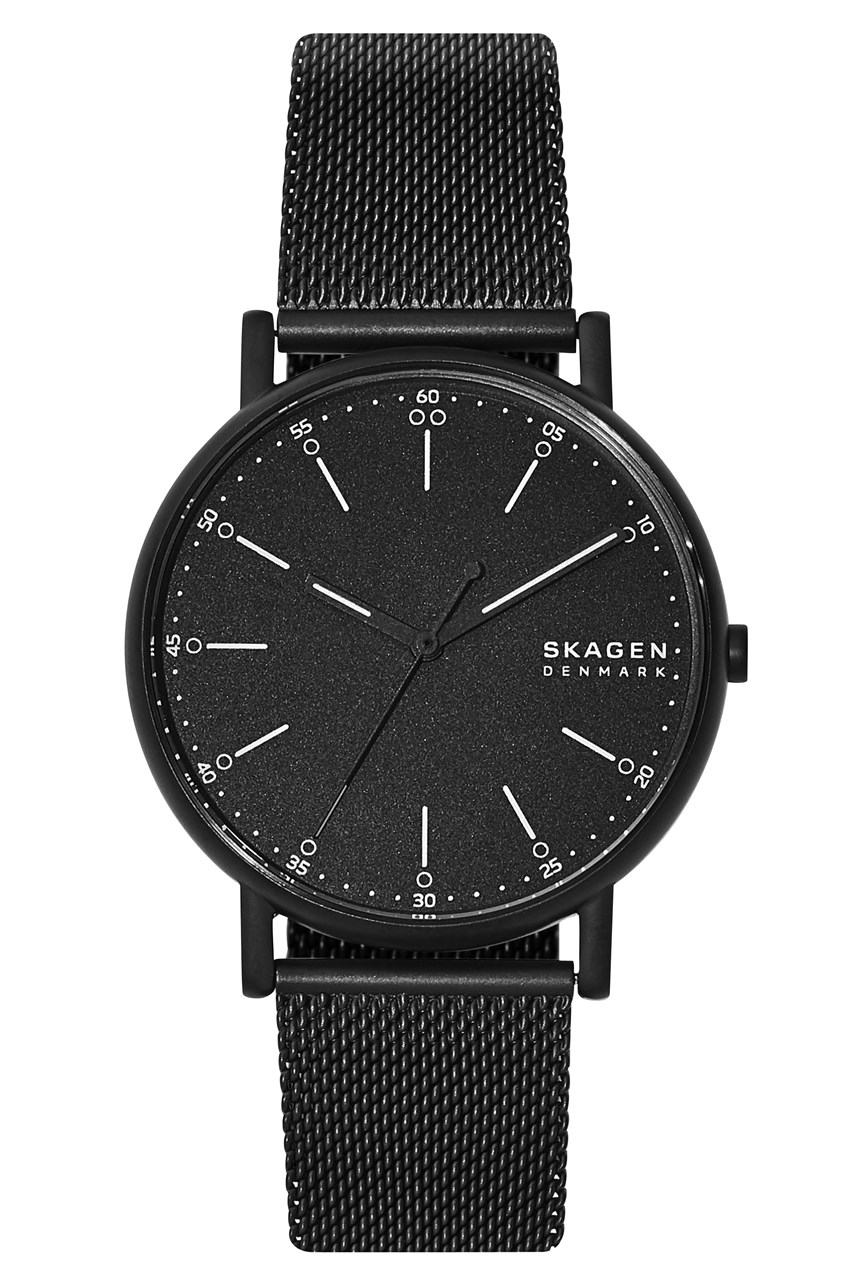 Signature Black Analogue Watch
